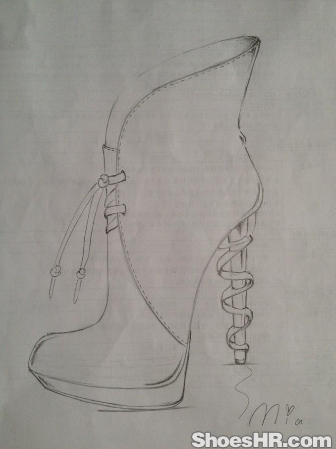 鞋子创意设计素描_设计分享
