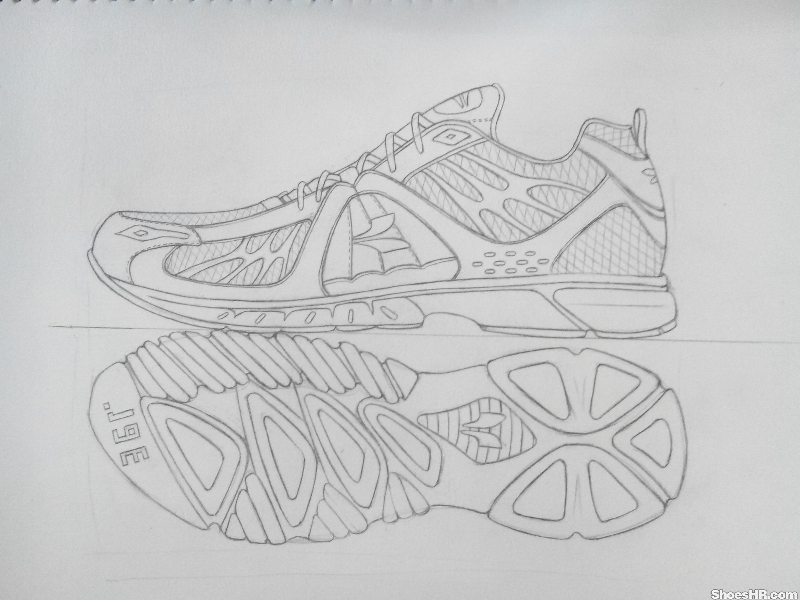 运动鞋临摹
