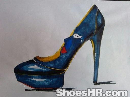 马克笔效果~,tracychan--中国鞋业设计师网