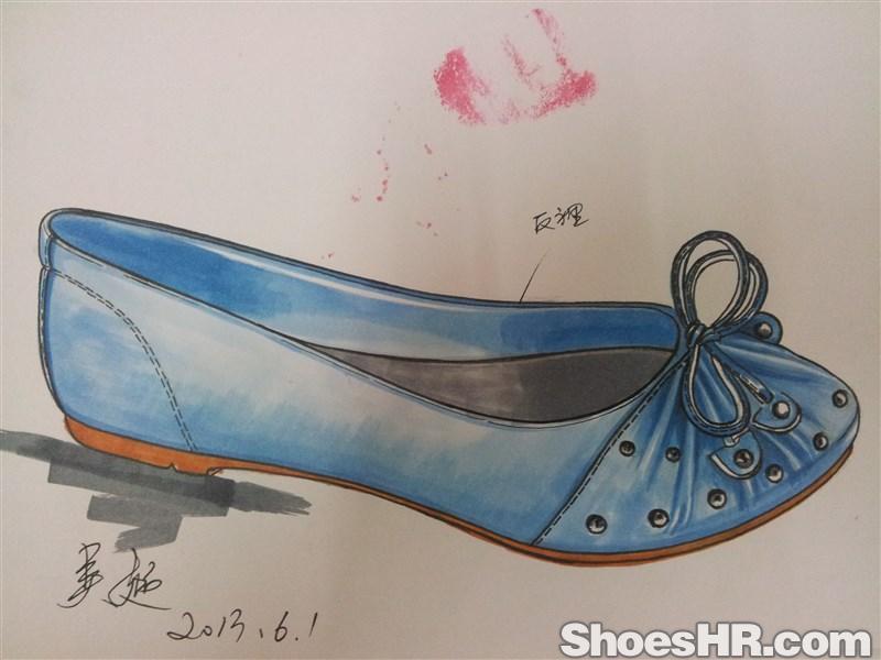 鞋设计马克笔分享展示