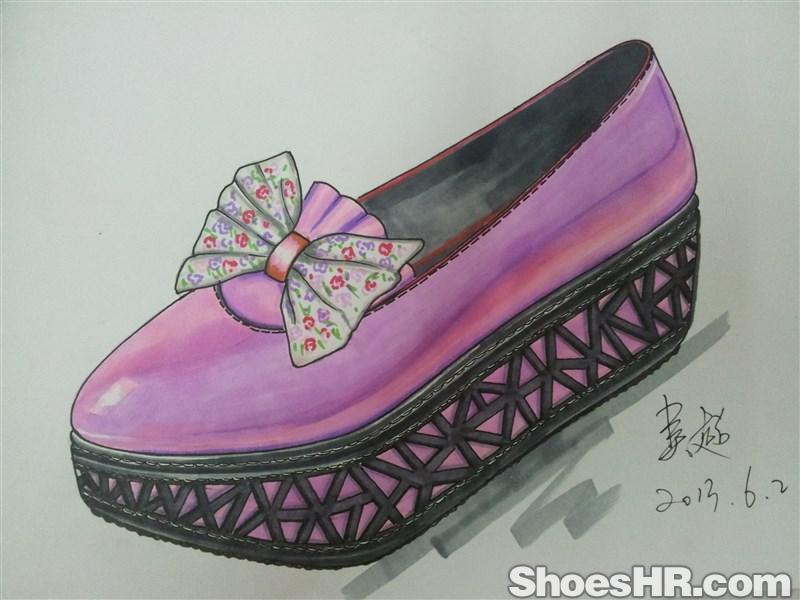 马克笔手绘女鞋