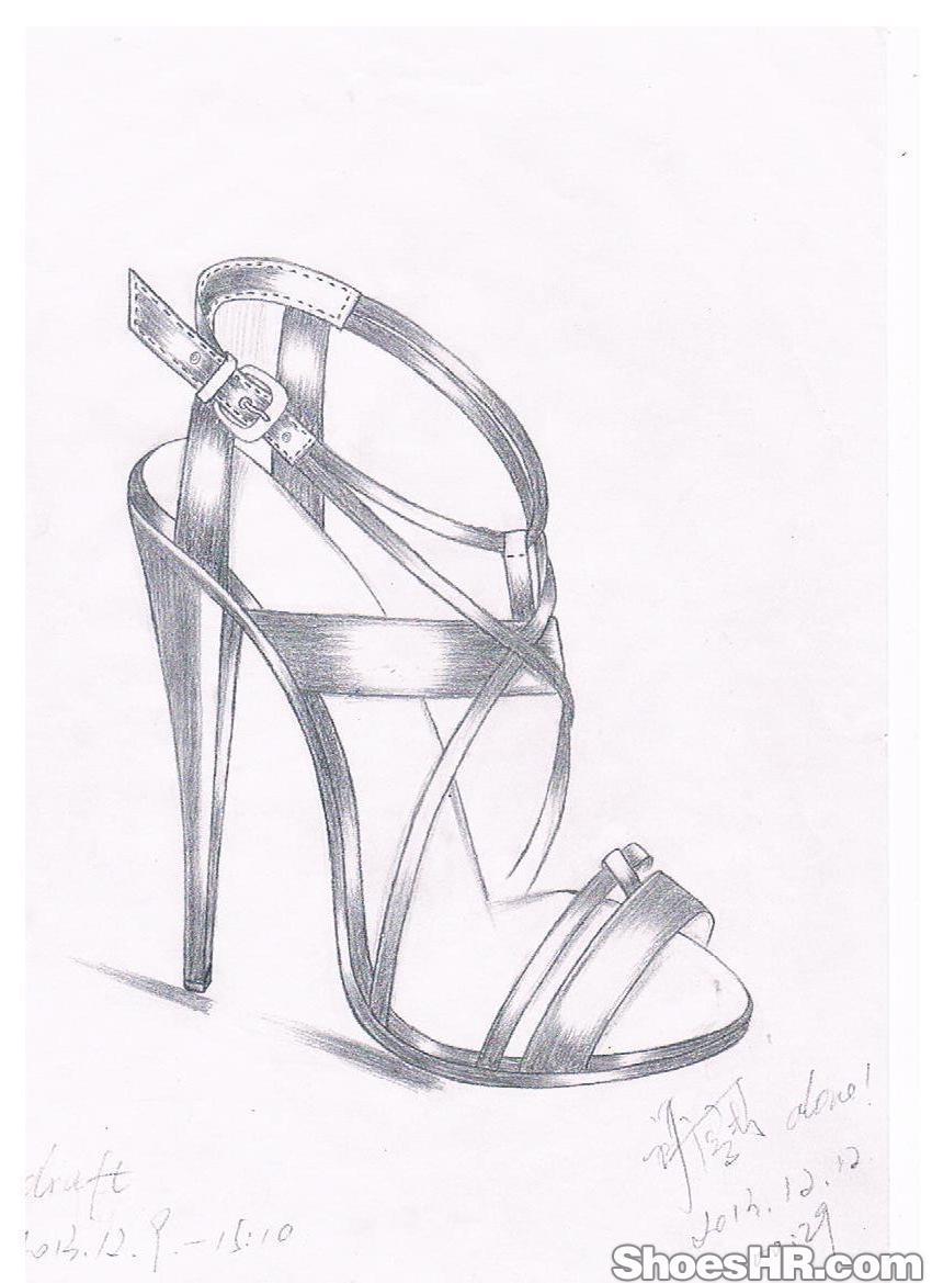 简笔画 手绘 线稿 鞋 鞋子 850_1169 竖版 竖屏