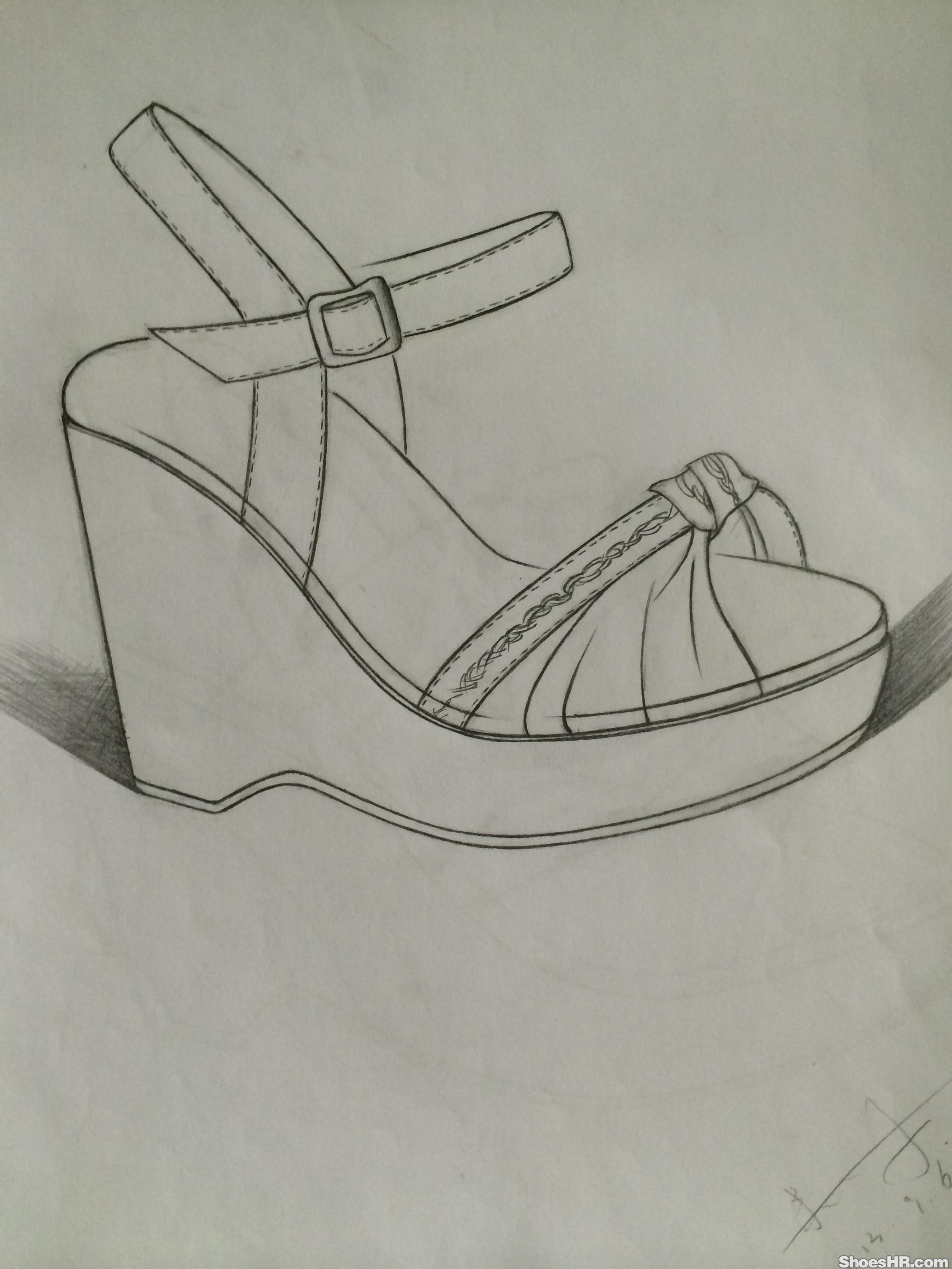 凉鞋简笔画正面