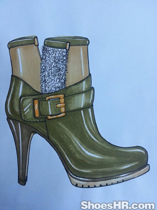 马克笔绘画女靴,do胡正伟--中国鞋业设计师网