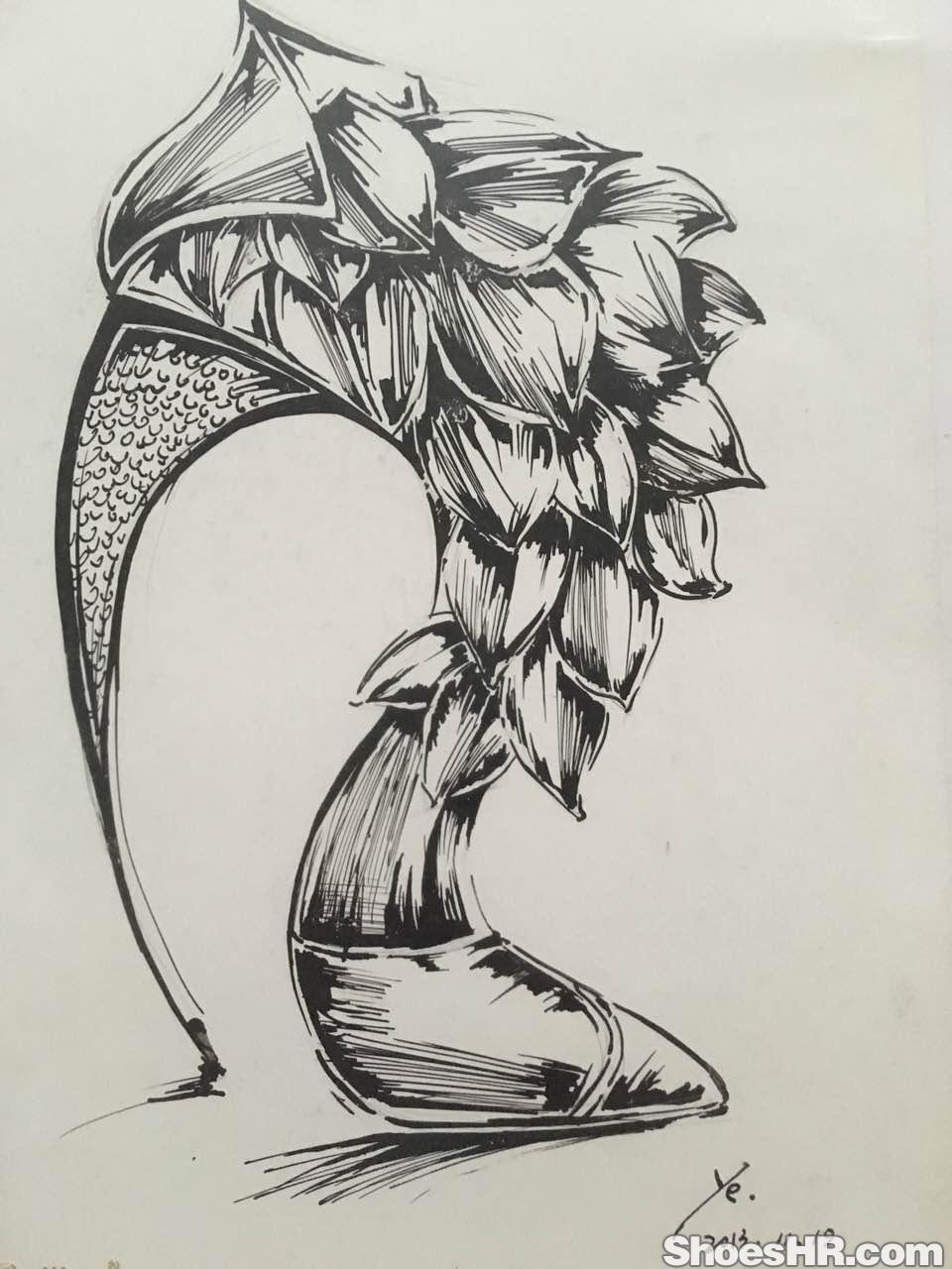 水性笔黑白手绘