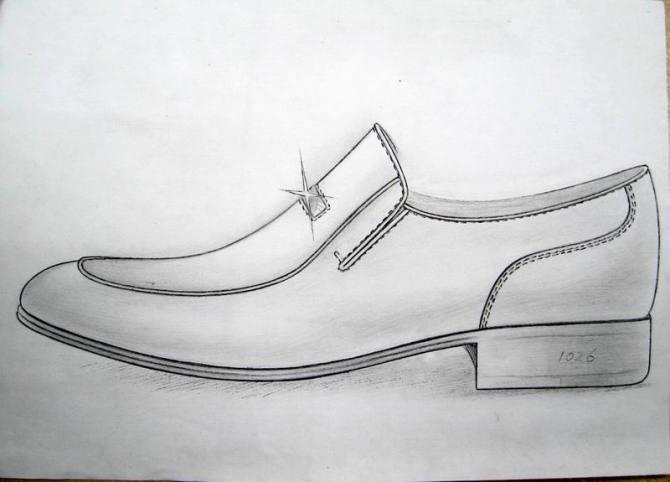 彩铅鞋设计手绘图