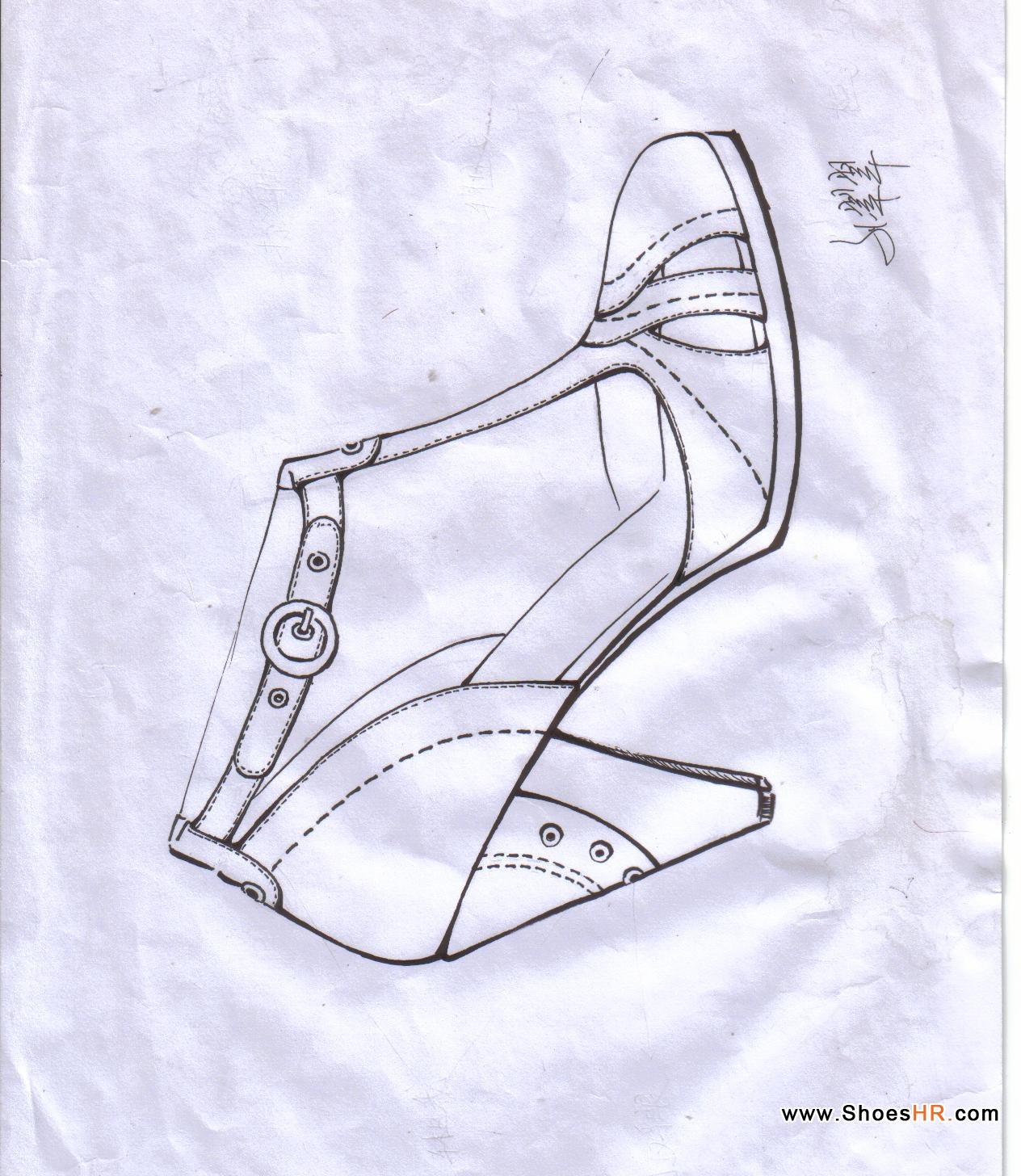 校服设计手稿素描图