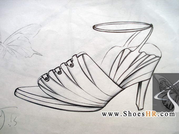 蝴蝶素描步骤图片