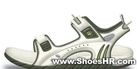 沙滩凉鞋,张安元--中国鞋业设计师网