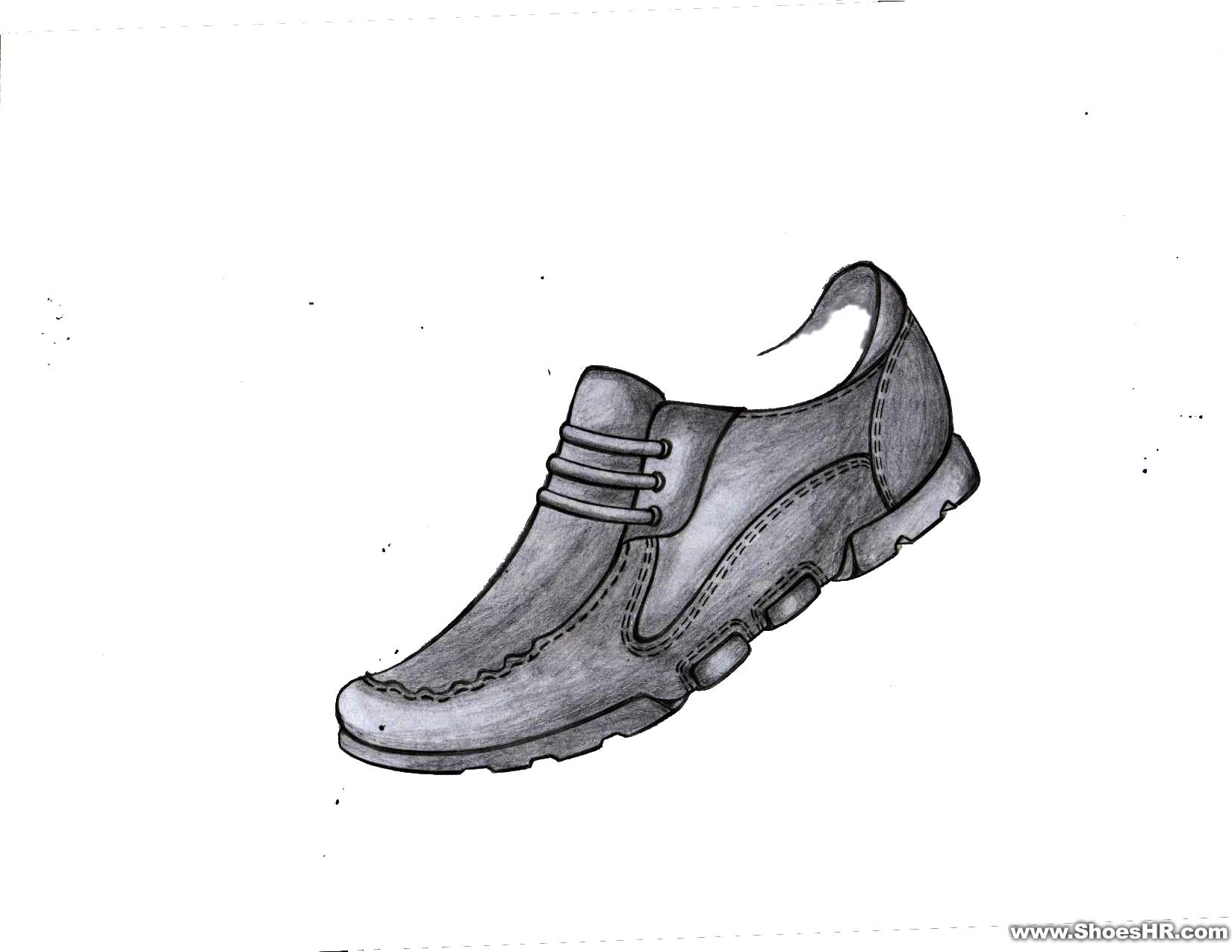 手绘男鞋效果图