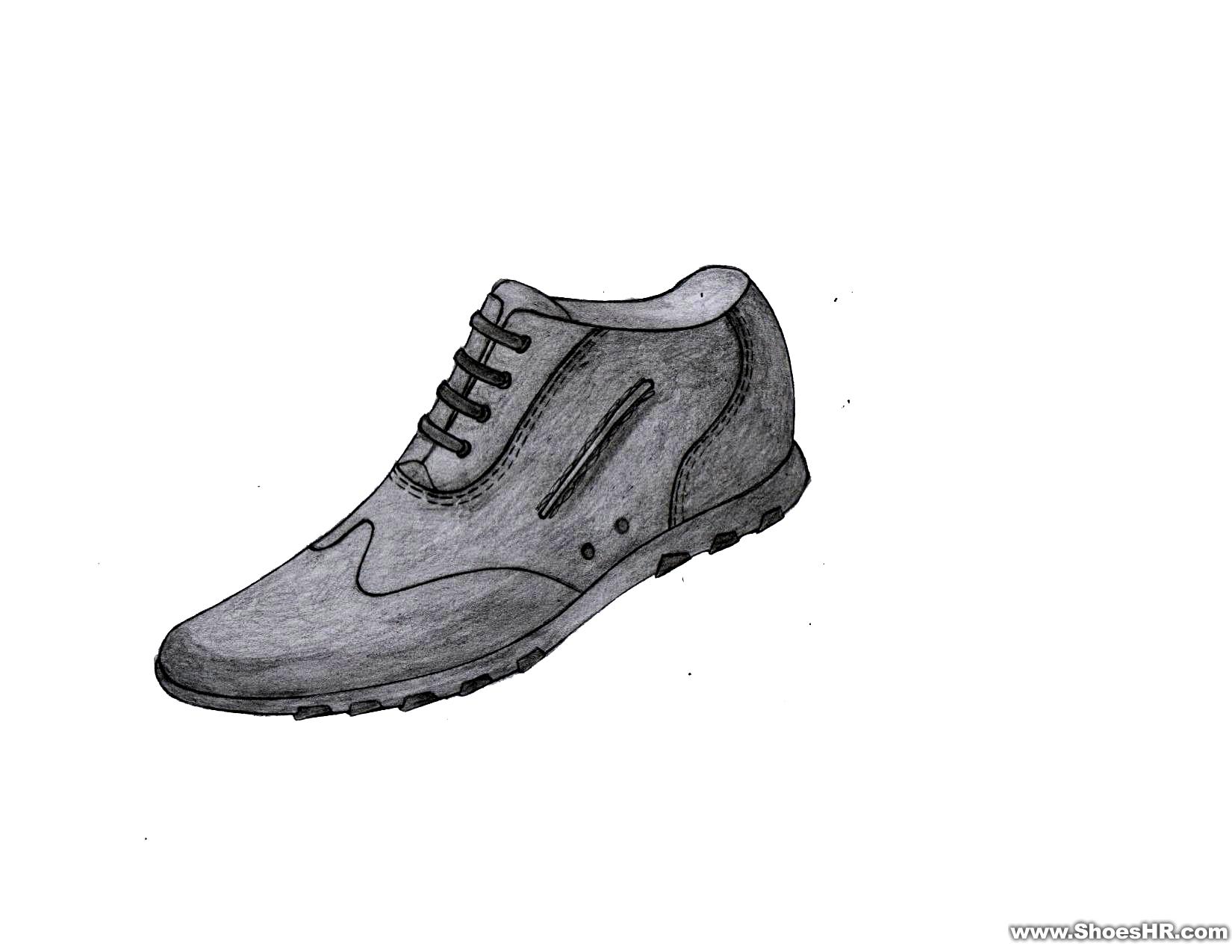 手绘男鞋效果图1