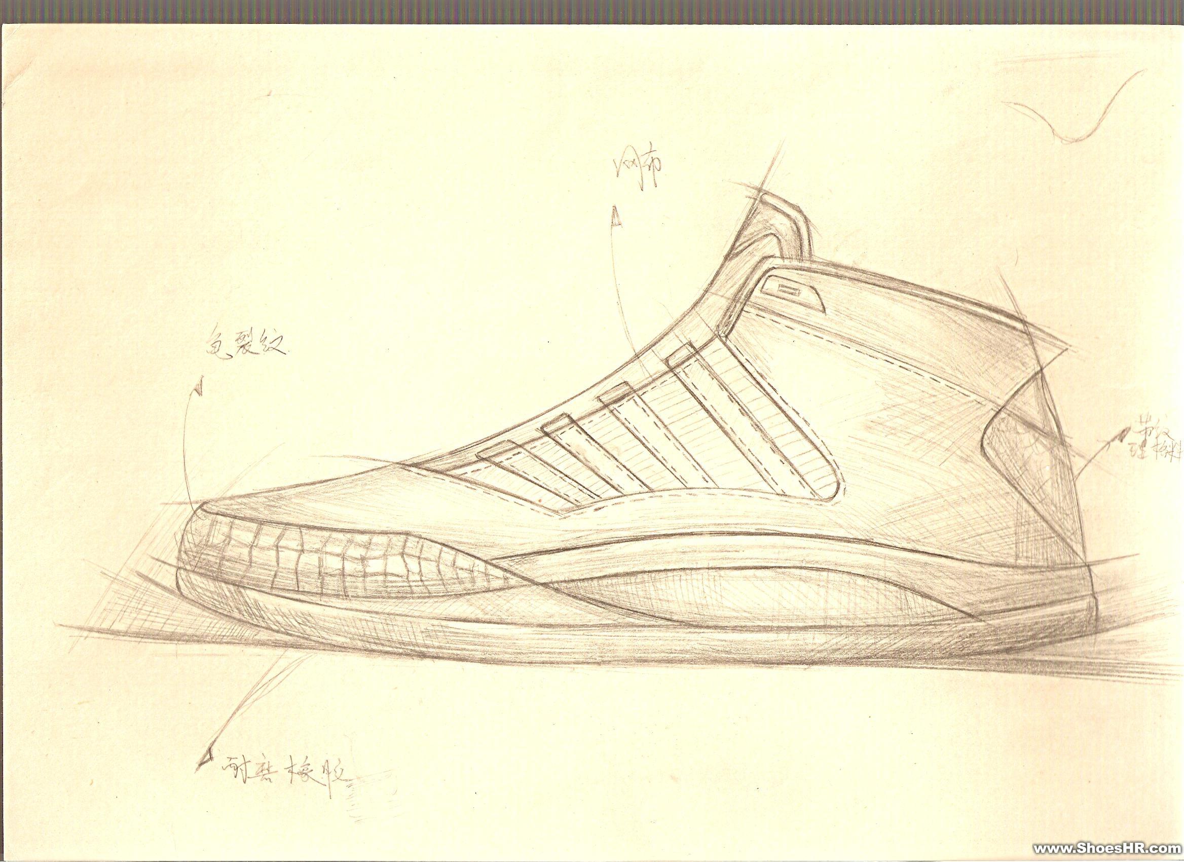 设计分享 鞋类设计手绘