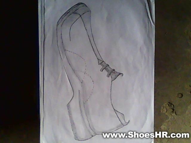 简单的鞋子素描图