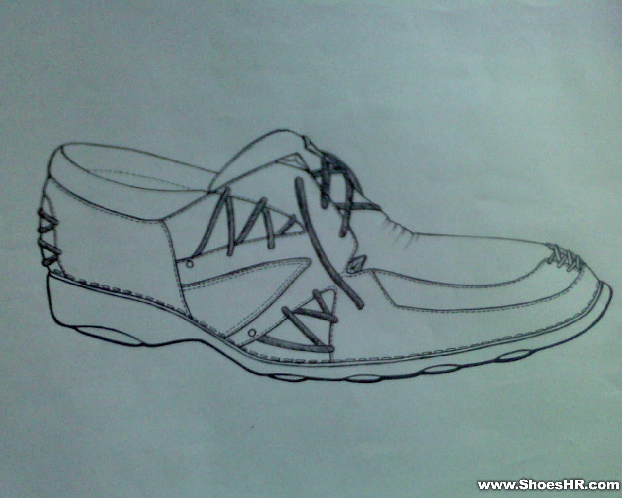 线描鞋子图片 线描速写人物临摹图,儿童创意线描作品 图
