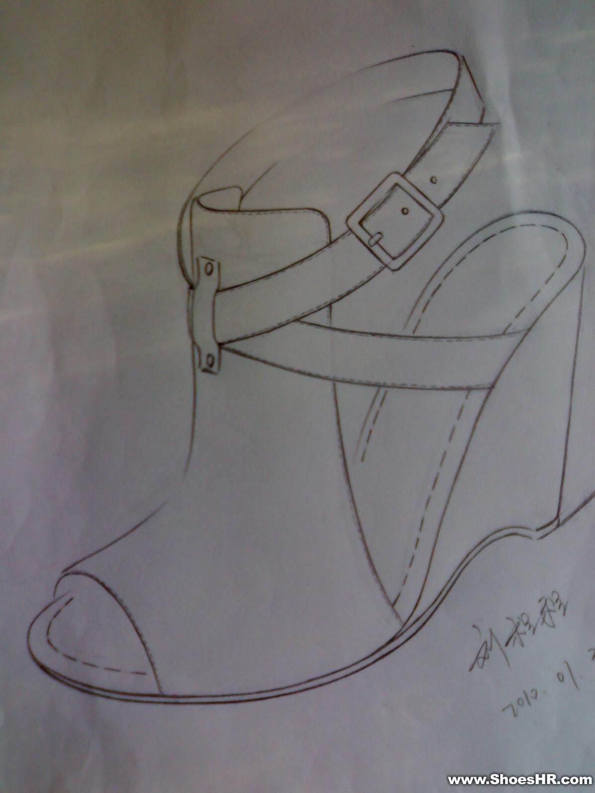 素描运动鞋子图片素材