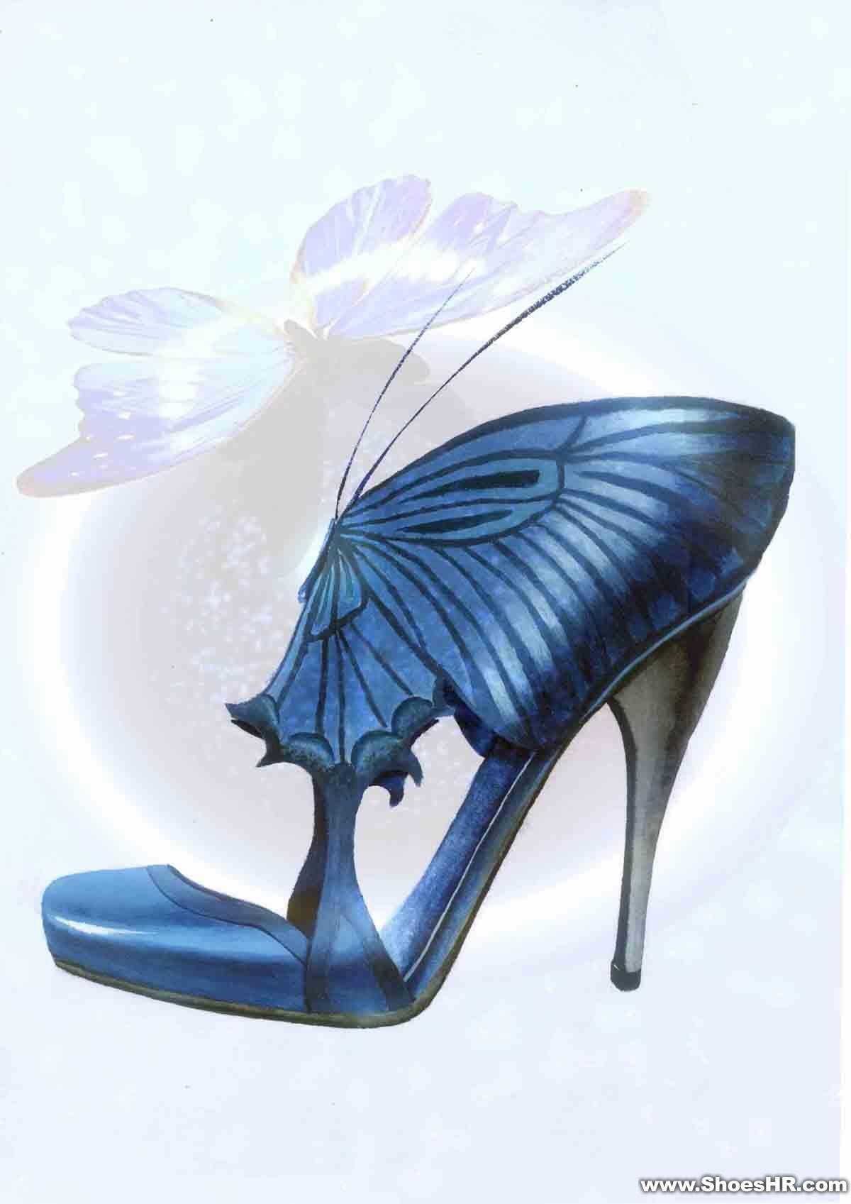 创意女鞋手绘效果图