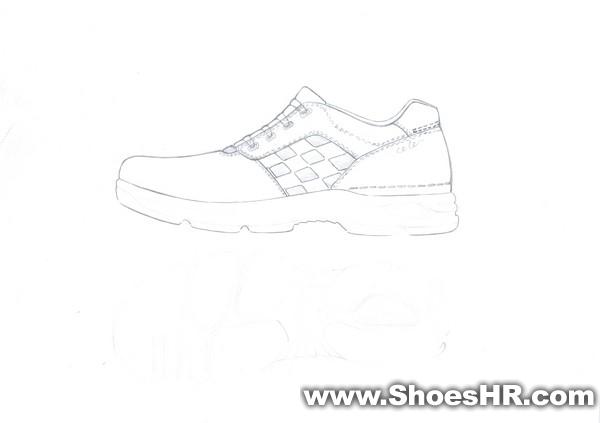 鞋子步骤画