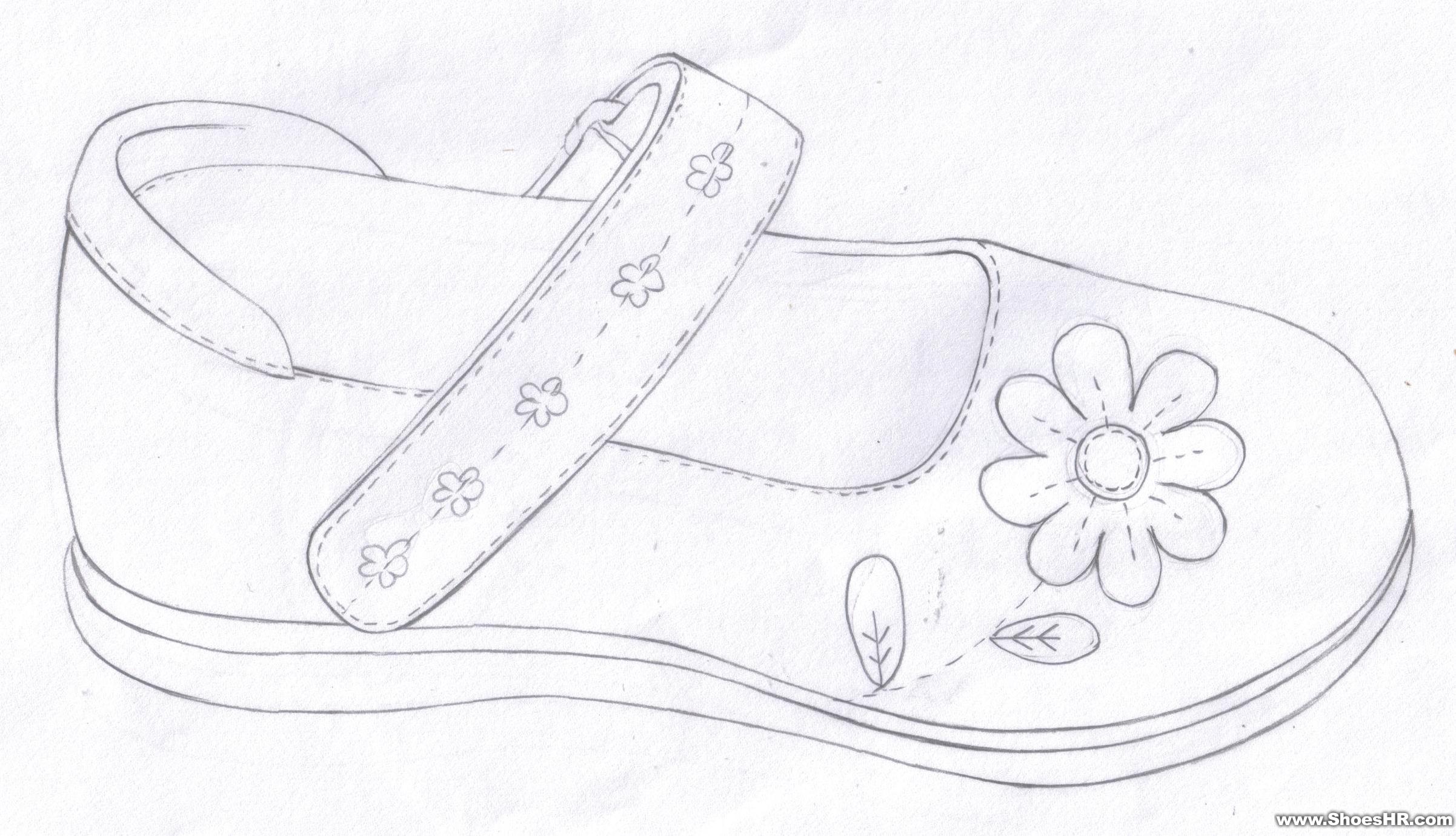 鞋设计图片手绘图片铅笔