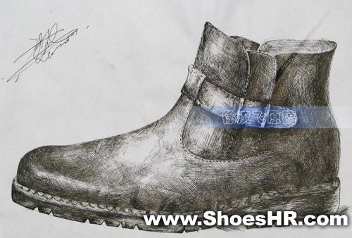 素描,徐汉飞--中国鞋业设计师网