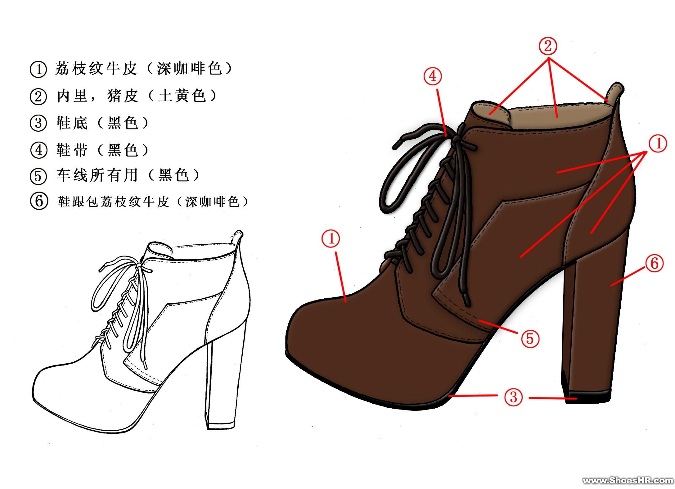 女鞋设计图铅笔