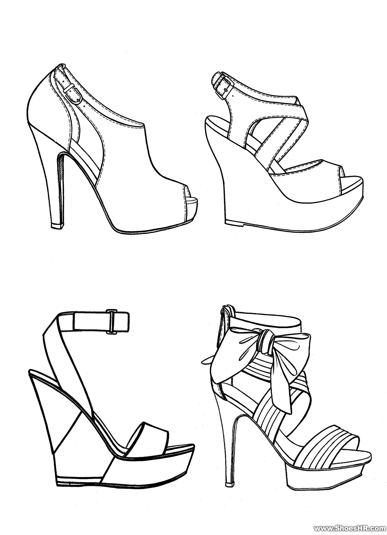 手绘图,锋哥--中国鞋业设计师网