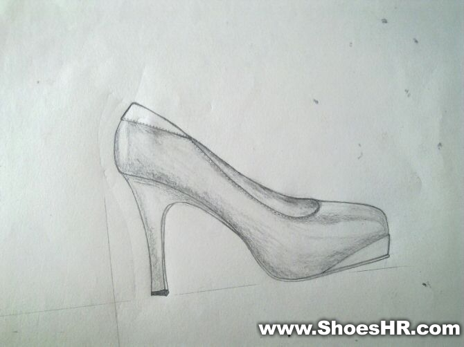 高跟鞋素描设计图_高跟鞋素描设计图分享展示