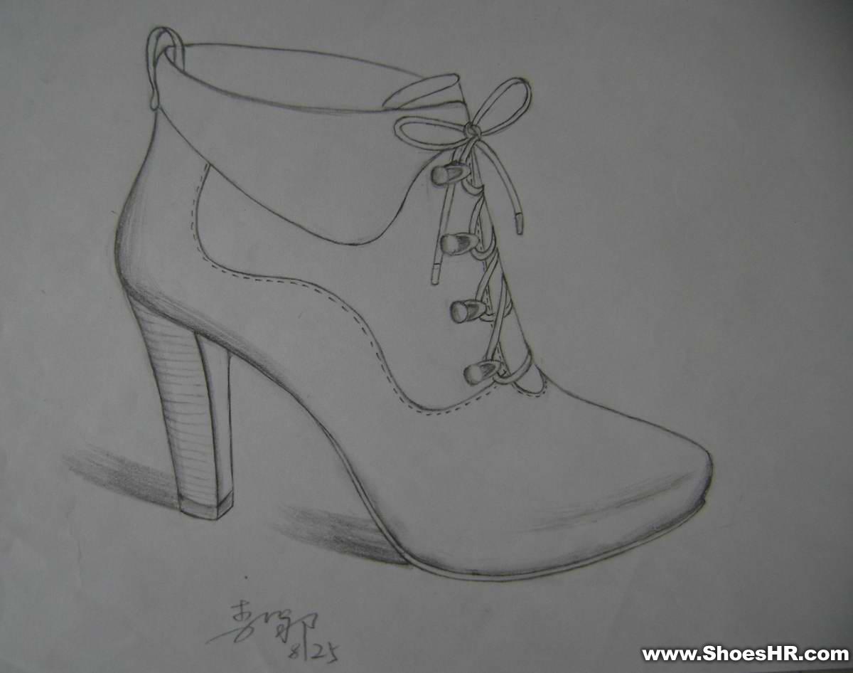 靴子简笔画步骤