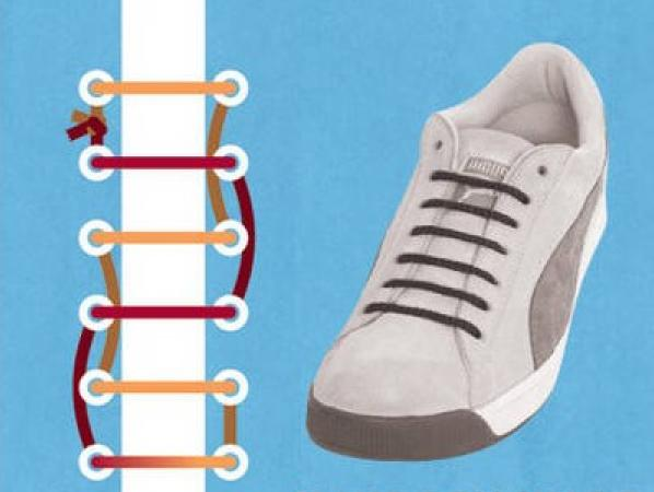 鞋带系出新花样-----普通鞋样变新款